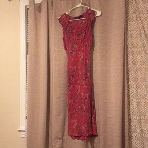 Ankle length printed tank top dress